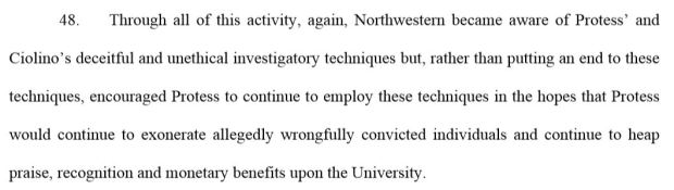 Excerpt from lawsuit filed by Alstory Simon against David Protess, Paul Ciolino, Jack Rimland and Northwestern University