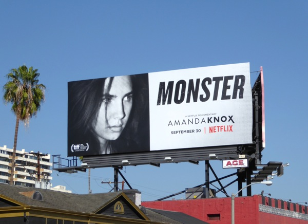Amanda Knox documentary Monster billboard