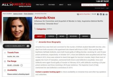 Agency Amanda Knox uses to book talks.